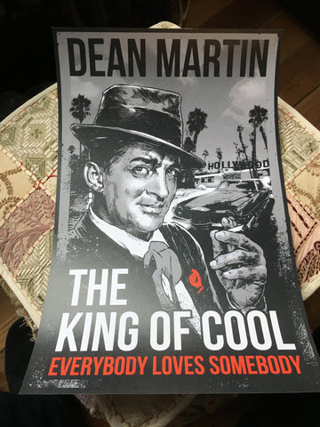 "Dean Martin | The King of Cool 11x17"" Lithograph Print"