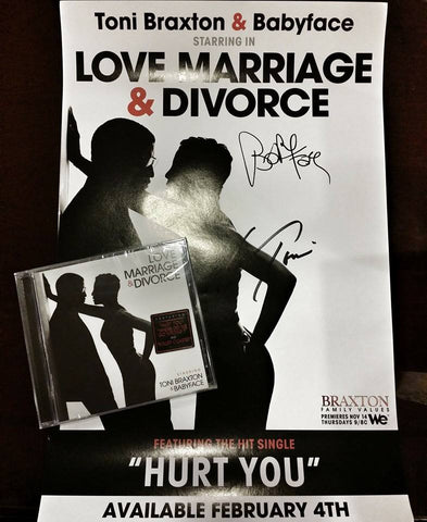 "Toni Braxton & Babyface | Love, Marriage & Divorce | Autographed 11x17"" Poster"