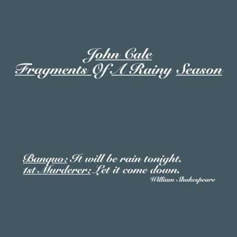 John Cale | Fragments Of A Rainy Season | 180g  Vinyl 2xLP