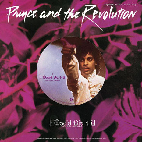 "Prince and the Revolution | I Would Die 4 U | 12"" Vinyl Single"