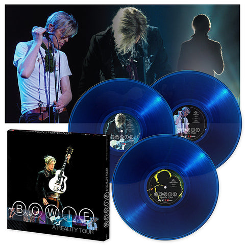 David Bowie | A Reality Tour | 180g Audiophile Translucent Blue Vinyl 3 LP Box Set - Limited Edition