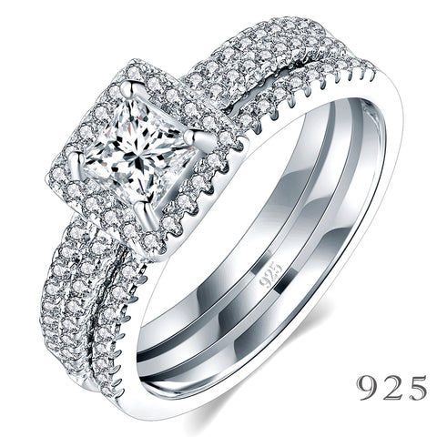 Boruo 925 Sterling Silver Ring Set