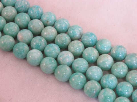 Amazonite Nature Gemstone Beads Blue/green Color 12mm Round 34pcs 15.5''