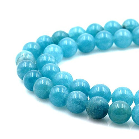 BRCbeads Gorgeous Natural Aquamarine Sponge Qurartz Gemstone Round Loose Beads 8mm Approxi 15.5 inch 45pcs 1 Strand per Bag for Jewelry Making