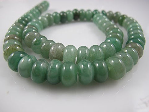 BRC Jade Nature Jade Multi-green Color 6X10mm Roudell 65pcs 15.5'' Per Strand