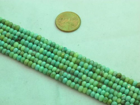 "Green Chrysoprase Beads Gemstone 2.5* 4mm Facted Roundell 15.5"" Strand Finding Charms Jewelry Making&design Beading"