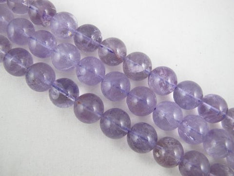 Amethyst Natural Gemstone Purple Smooth Round Shape 16mm 15pcs 16'' Jewelry Making