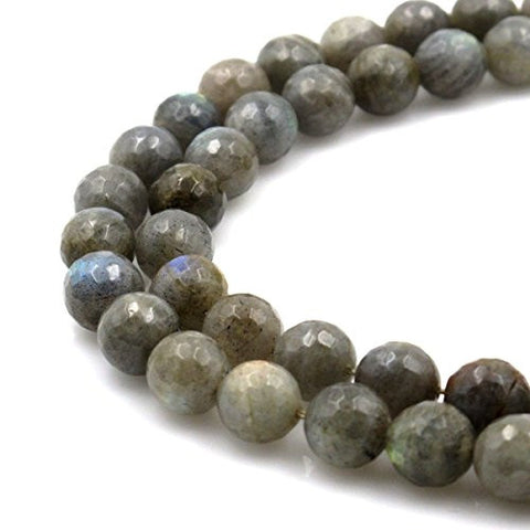 BRCbeads Gorgeous Natural Faceted labradorite Gemstone Round Loose Beads 14mm Approxi 15.5 inch 25pcs 1 Strand per Bag for Jewelry Making