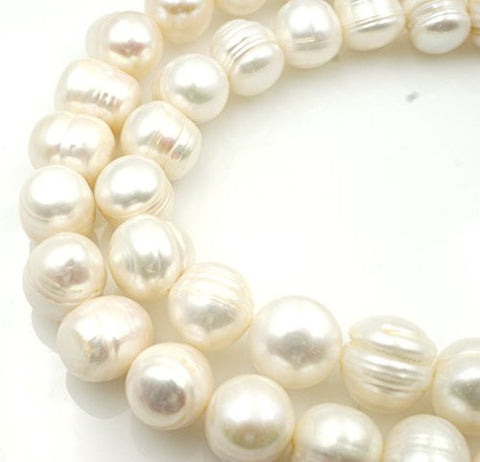 Fresh Water Pearl Nature Pearl Round Shape White 13mm 32pcs 15.5'' Cultured Freshwater Pearls