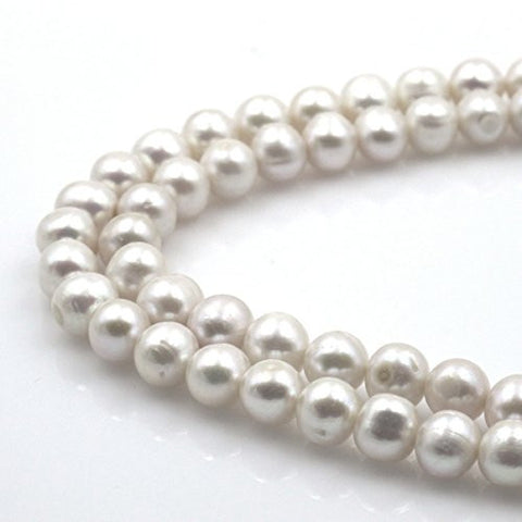 BRCbeads Gorgeous Natural Fresh Water Pearl Gemstone Round Loose Beads 10~11mm Approxi 15.5 inch 38pcs 1 Strand per Bag for Jewelry Making