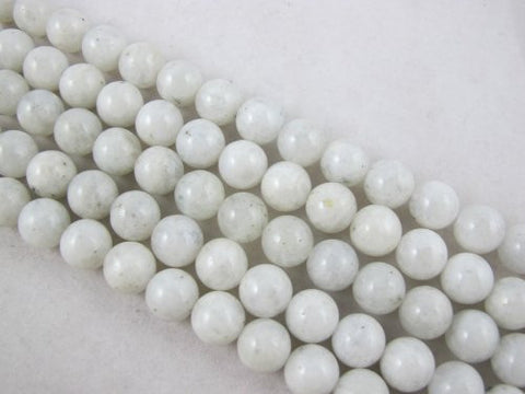 Natural Moonstone B Grade Round Approx 6mm White 67pcs 15.5'' Per Strand Gemstone Beads