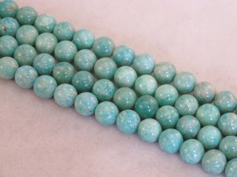 Amazonite Nature Gemstone Beads Blue/green Color 10mm Round 40pcs 15.5''