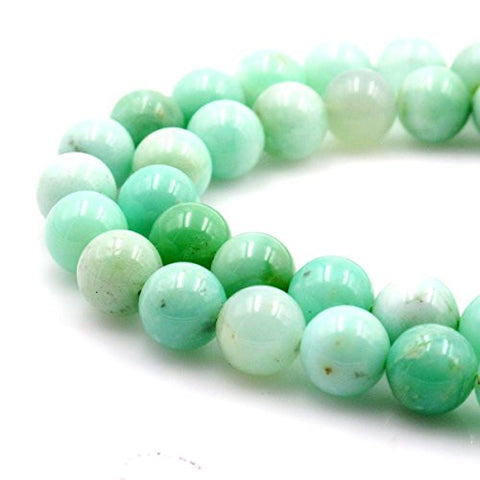 BRCbeads Gorgeous Natural Green Chrysoprase Agate Gemstone Round Loose Beads 5mm Approxi 15.5 inch 78pcs 1 Strand per Bag for Jewelry Making