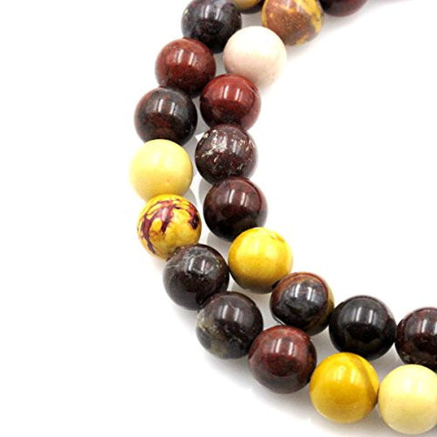 BRCbeads Gorgeous Natural Mookaite Jaspe C Grade Gemstone Round Loose Beads 10mm Approxi 15.5 inch 38pcs 1 Strand per Bag for Jewelry Making