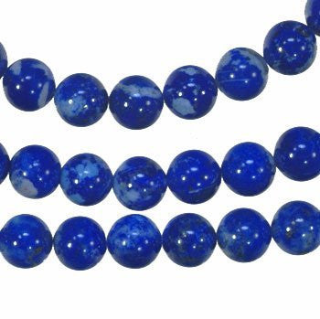 Lapis Lazuli 6mm Round Denim Blue Natural Beads Strand 16""