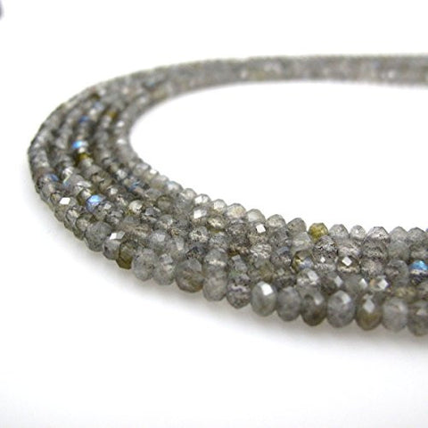 Labradorite Beads Faceted Rondelle A Grade 2.5x4mm 150pcs Per Strand 15.5''