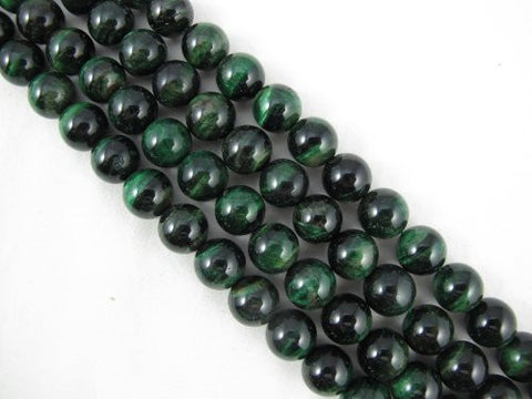 Tiger Eye Natural Gemstone Green Color Smooth Round Shape 12mm 33pcs 15.5''per Strand Jewelry Making Beads