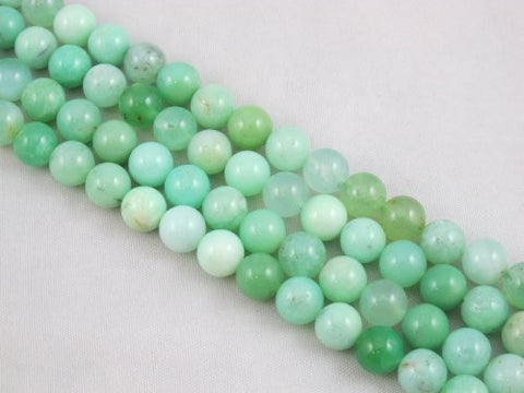 "Nature Chrysoprase A Grade Gemstone Australia Chrysoprase 8mm Round 50pcs 15.5"" Strand Jewelry Making&design Beading"