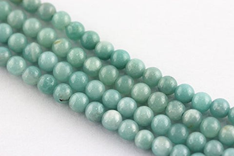 Pale Aqua Blue Amazonite 6mm Round Beads/15.5 Inch Strand