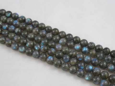 Natural Labradorite B Grade Gemstone Round 10mm 41pcs Per Strand 15.5''