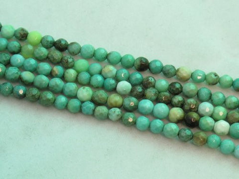 "Green Chrysoprase Beads Gemstone 4mm Facted Round 15.5"" Strand Finding Charms Jewelry Making&design Beading"
