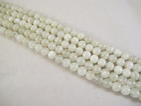 BRCbeads Natural Moonstone A Grade Round 10mm White 39pcs 15.5'' Per Strand Gemstone Beads