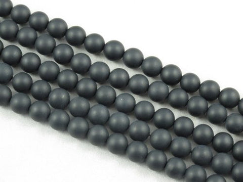 Matte Black Onyx Natural Gemstone Round 8mm 49pcs 15.5'' Jewelry Making Beads