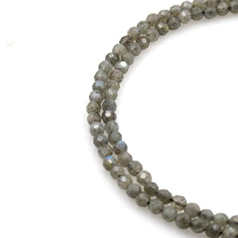 BRCbeads Gorgeous Natural Faceted Labradorite Gemstone Round Loose Beads 4mm Approxi 15.5 inch 95pcs 1 Strand per Bag for Jewelry Making