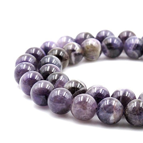 BRCbeads Gorgeous Natural Amethyst DARK color Gemstone Round Loose Beads 14mm Approxi 15.5 inch 25pcs 1 Strand per Bag for Jewelry Making