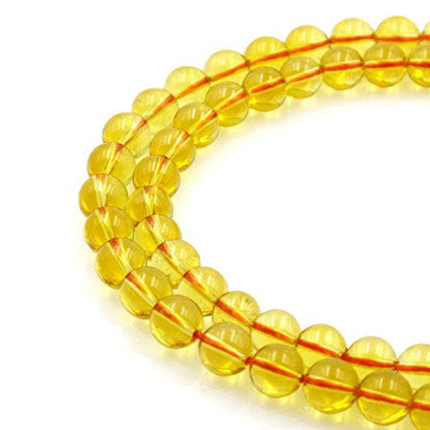 BRCbeads Gorgeous Natural Citrine Heat Treating Gemstone Round Loose Beads 8mm Approxi 15.5 inch 45pcs 1 Strand per Bag for Jewelry Making