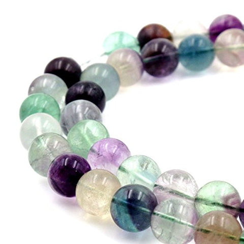 BRCbeads Gorgeous Natural Fluorite Gemstone Round Loose Beads 12mm Approxi 15.5 inch 30pcs 1 Strand per Bag for Jewelry Making