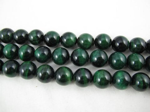 Tiger Eye Natural Gemstone Green Color Smooth Round Shape 14mm 28pcs 15.5''per Strand Jewelry Making Beads