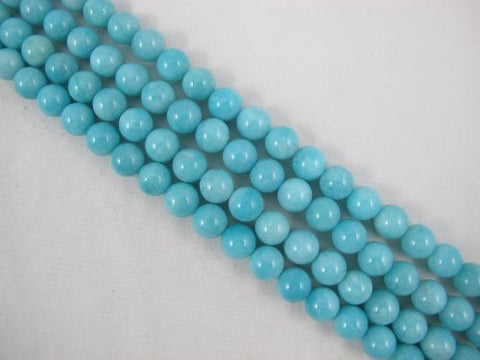 Amazonite Natural Gemstone A Grade Beads Blue Color 10mm Round 41pcs 15.5'' Jewelry Making Beads