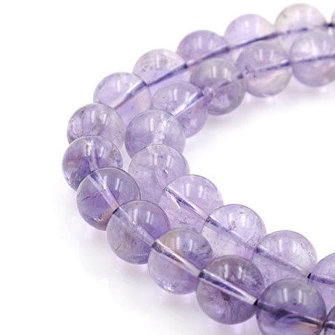BRCbeads Gorgeous Natural Crystal Purple Amethyst Gemstone Round Loose Beads 13~14mm Approxi 15.5 inch 25pcs 1 Strand per Bag for Jewelry Making