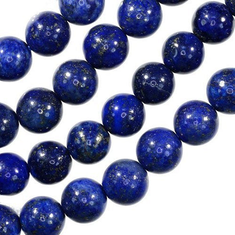 SODIAL(R)Lapis Lazuli 8mm Round Gem Royal Blue Beads Strand 15""