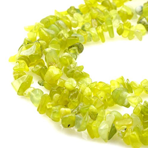 BRCbeads Nice Lemon Jade Stone Chips Beads 7~8mm 34 Inches per strand For Jewelery Making