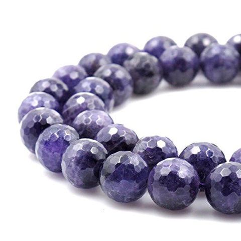 BRCbeads Gorgeous Natural Faceted Amethyst Gemstone Round Loose Beads 18mm Approxi 15.5 inch 20pcs 1 Strand per Bag for Jewelry Making