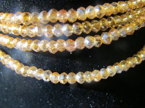 Glass Crystal Faceted Rondelle Finding Spacer Beads 3x2mm 200pcs Orange3 Color 17''per Strand