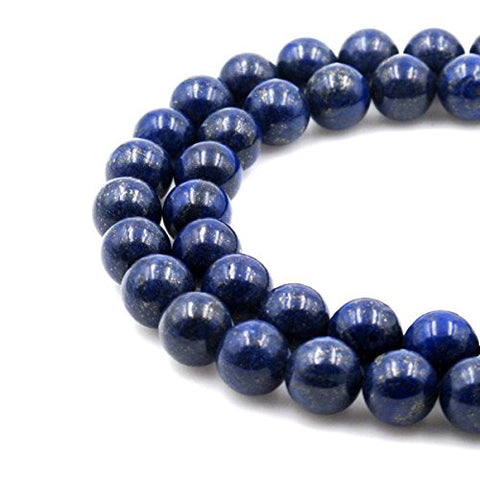 BRCbeads Gorgeous Natural Blue Lapis Gemstone Round Loose Beads 18mm Approxi 15.5 inch 20pcs 1 Strand per Bag for Jewelry Making