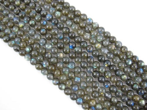 Natural Labradorite AA Grade Gemstone Round 8mm 53pcs Per Strand 15.5''