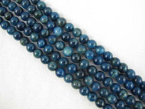 Kyanite Beads Natural Gemstone AB Grade Dark Blue 8mm Round 50pcs 15.5""