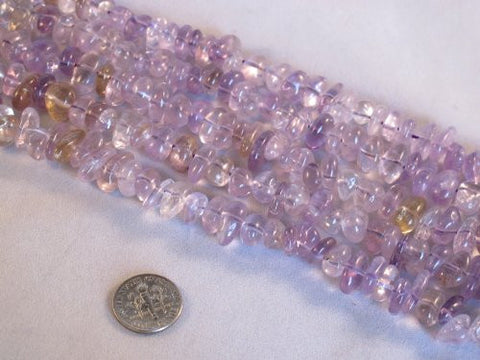 Natural Amethyst and Ametrine 90pcs 15.5''strand Beads for Jewelry Making ,Beading,gemstone,loose Beads
