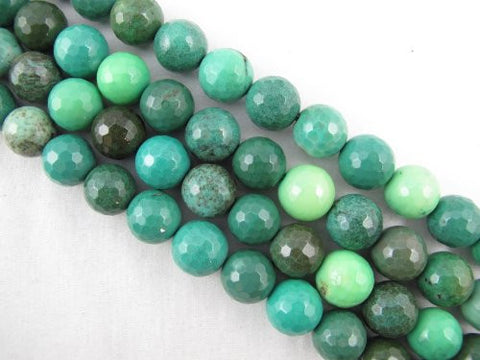 "Green Chrysoprase Beads Gemstone 12mm Facted Round 33pcs 15.5"" Strand Finding Charms Jewelry Making&design Beading"