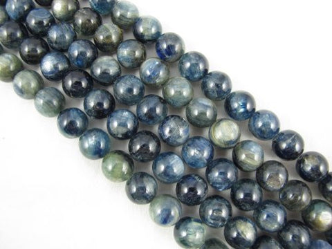 Kyanite Beads Natural Gemstone A Grade Dark Blue 12mm Round 33pcs 15.5""