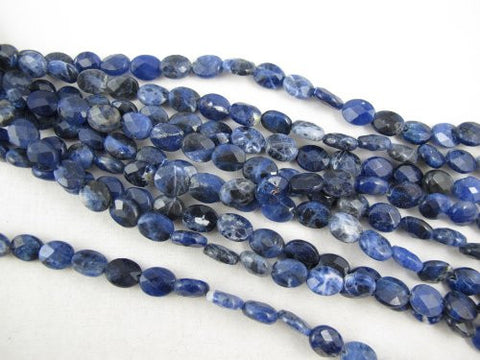 Sodalite Nature Sodalite Oval Shape 8x10mm Blue Color 40pcs 16''per Strand