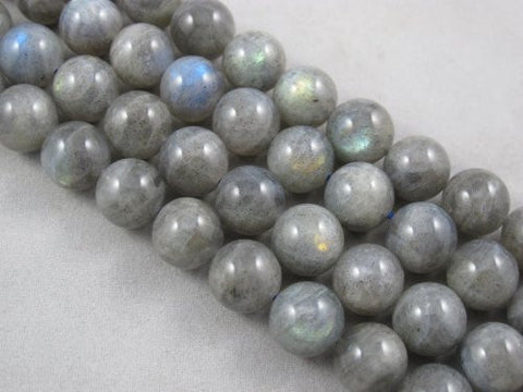 Natural Labradorite B Grade Gemstone Round 12mm 34pcs Per Strand 15.5''