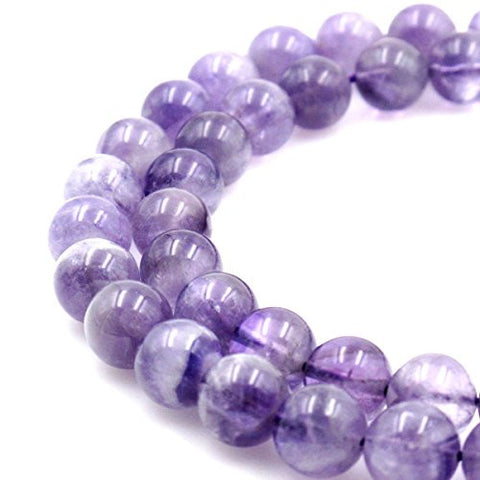 BRCbeads Gorgeous Natural Light Purple Amethyst Gemstone Round Loose Beads 12mm Approxi 15.5 inch 30pcs 1 Strand per Bag for Jewelry Making