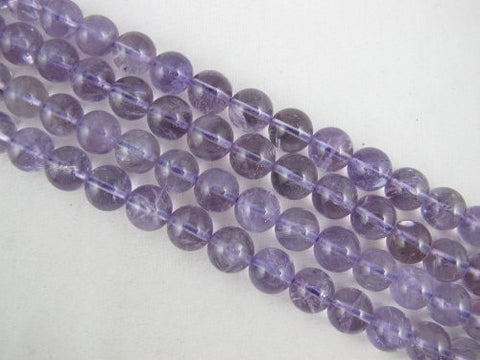 Amethyst Natural Gemstone Purple Smooth Round Shape 12mm 33pcs 16'' Jewelry Making