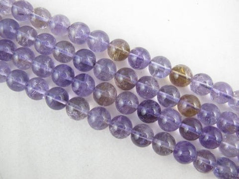 Amethyst Natural Gemstone Purple Smooth Round Shape 10mm 40pcs 16'' Jewelry Making