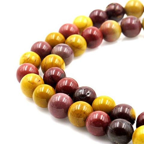 BRCbeads Gorgeous Natural Mookaite Jasper Gemstone Round Loose Beads 12mm Approxi 15.5 inch 30pcs 1 Strand per Bag for Jewelry Making